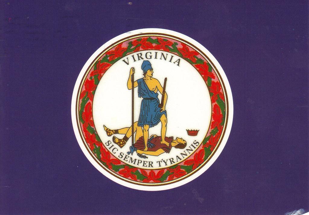 Virginia State Flag Postcard Usdt Flag 1 Rr From Ribit1 Flickr