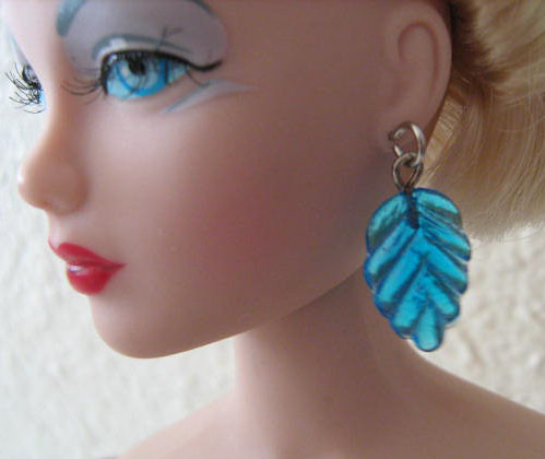 Blue Leaves Fashion Doll Earrings | by Enchanticals ~I'm Coming Back