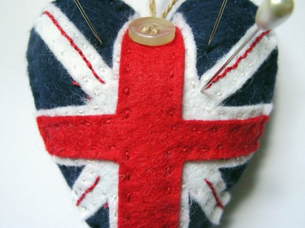Union Jack Pin Cushion / Stuffie | by darlingdillydilly