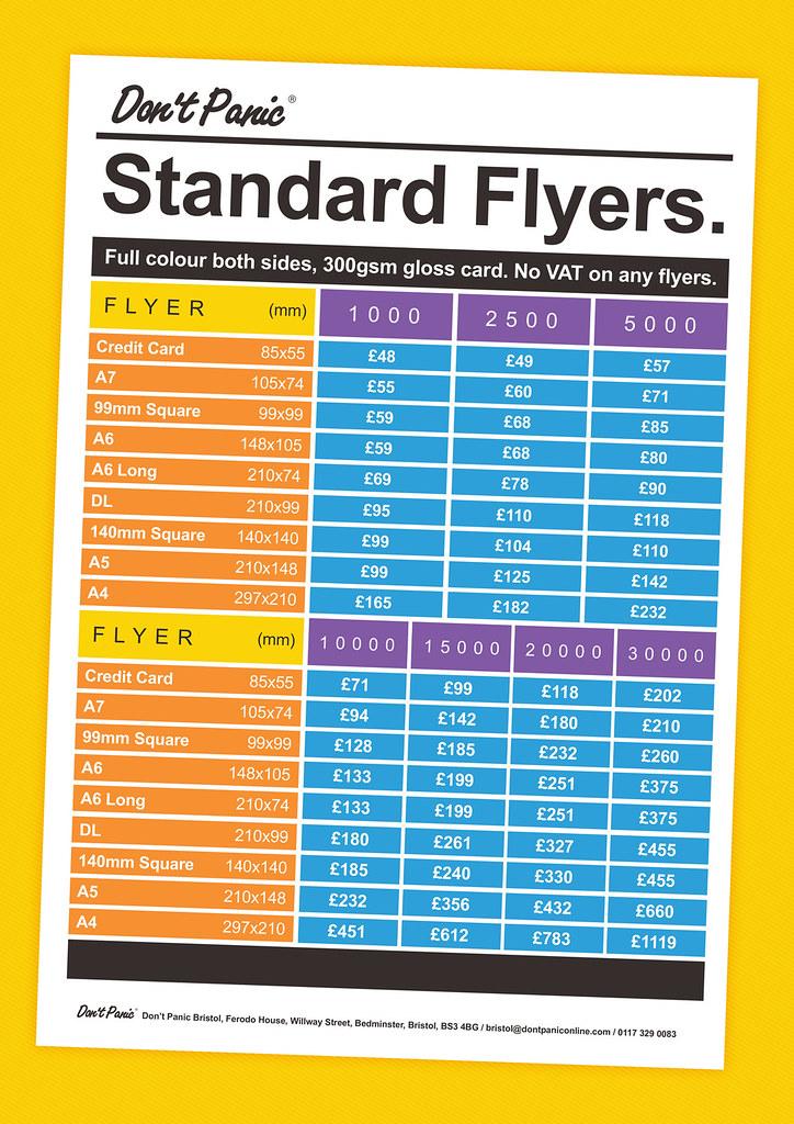flyer print price list web flyer dont panic bristol flickr