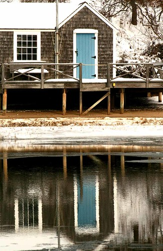 Boathouse Reflection /  Chatham Ma. Cape Cod  -  Christopher D. LeClaire photo, 2009 | by Christopher D. LeClaire Photography