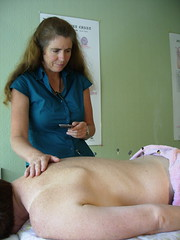 Charlotte Stuart treating a patient with  acupuncture moxibustion in Nelson, New Zealand | by Wonderlane