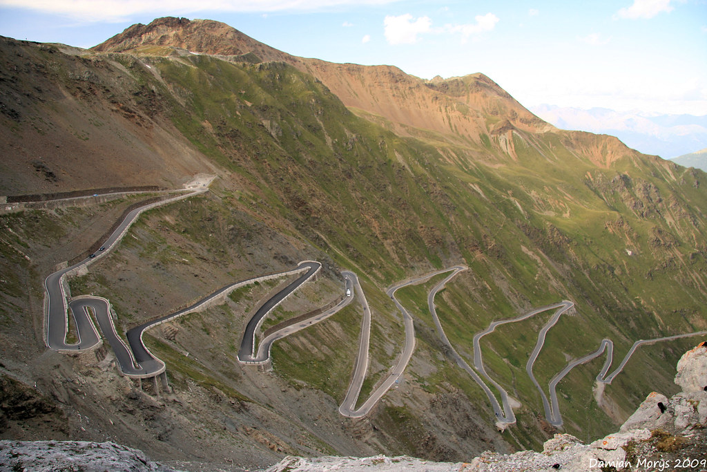 Stelvio Pass, famous switchbacks
