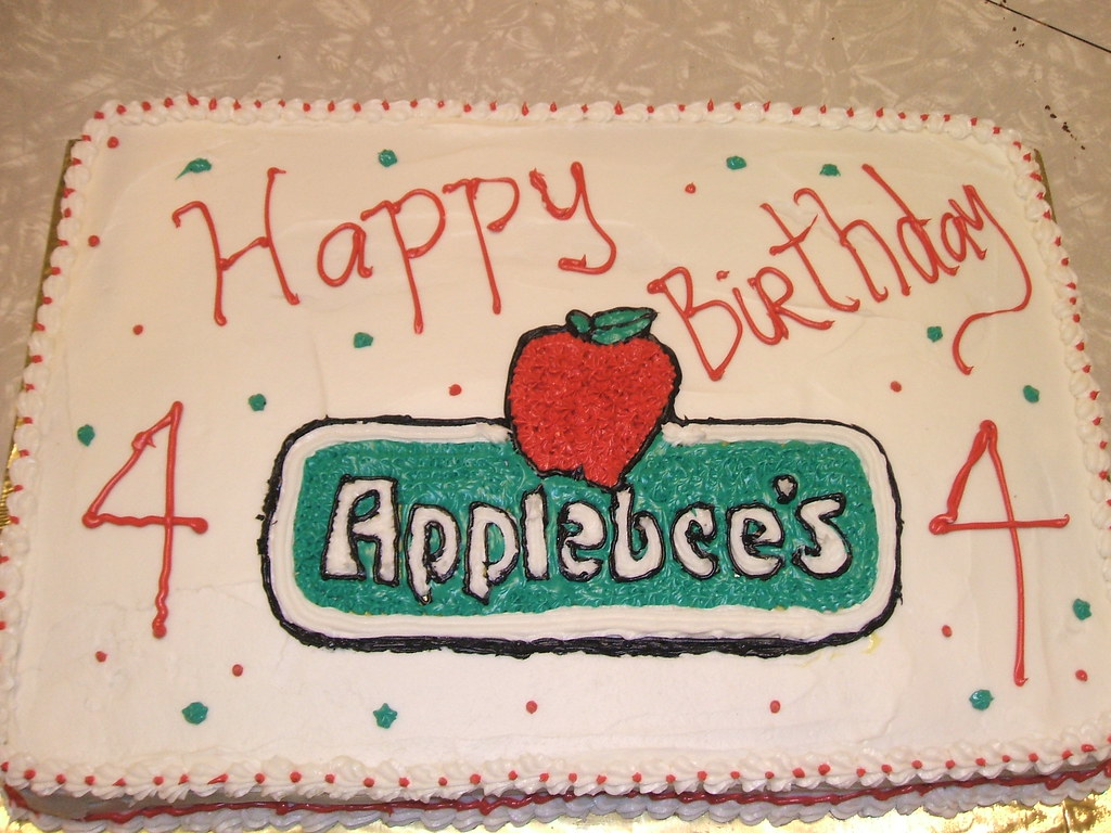 Applebees Birthday Cake My Nephew Is The Assistant Manage Flickr