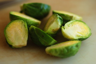 halved brussel sprouts | by sweetbeetandgreenbean