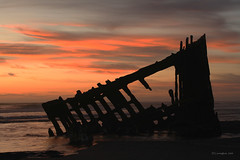 Shipwreck at Sunset | by D Cunningham