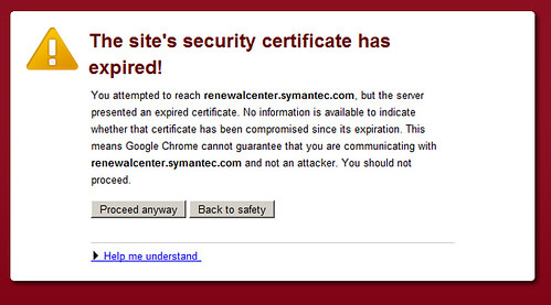 Symantec has a certificate problem...