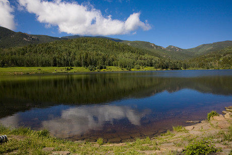 Lake San Isabel is tucked into the San Isabel National Forest | by Visit Colorado