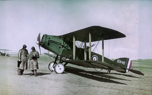 Observer, pilot, and Bristol Fighter F2B aircraft | by Australian War Memorial collection