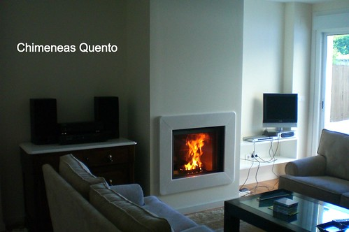 Chimenea quento stuv 65 con marco marmol blanco www - Chimeneas quento ...