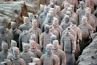 army of terra cotta soldiers, xian | by hopemeng
