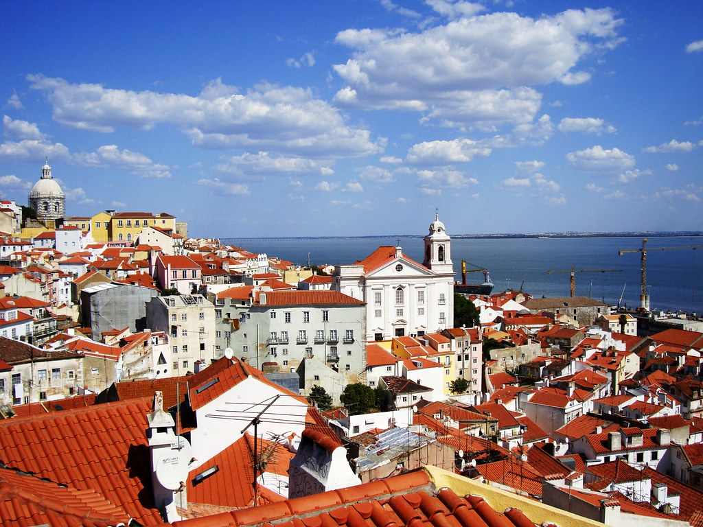lisbon aerial view city with water best places to visit in europe
