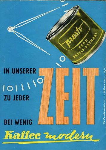 Presto Kaffee extract. DDR werbung | I might be a bit