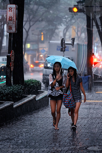Two girls caught in the rainstorm; Shibuya, Tokyo | by Alfie | Japanorama