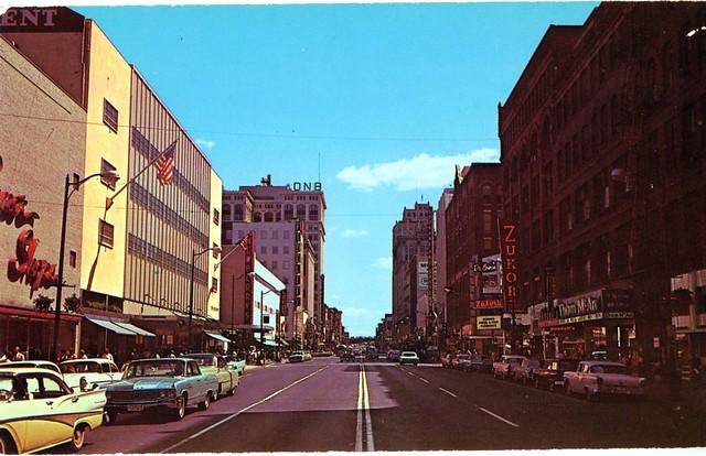Spokane WA downtown postcard