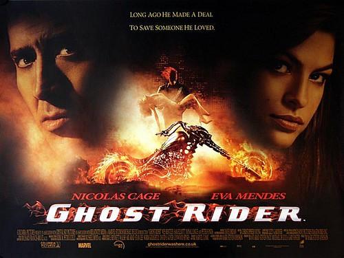 ghost rider 2007 original uk quad vintage movie poster flickr. Black Bedroom Furniture Sets. Home Design Ideas
