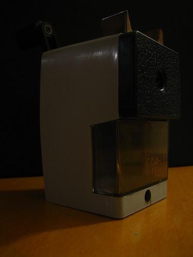 pencil sharpener front aka anspitzer mit kurbel this work flickr. Black Bedroom Furniture Sets. Home Design Ideas