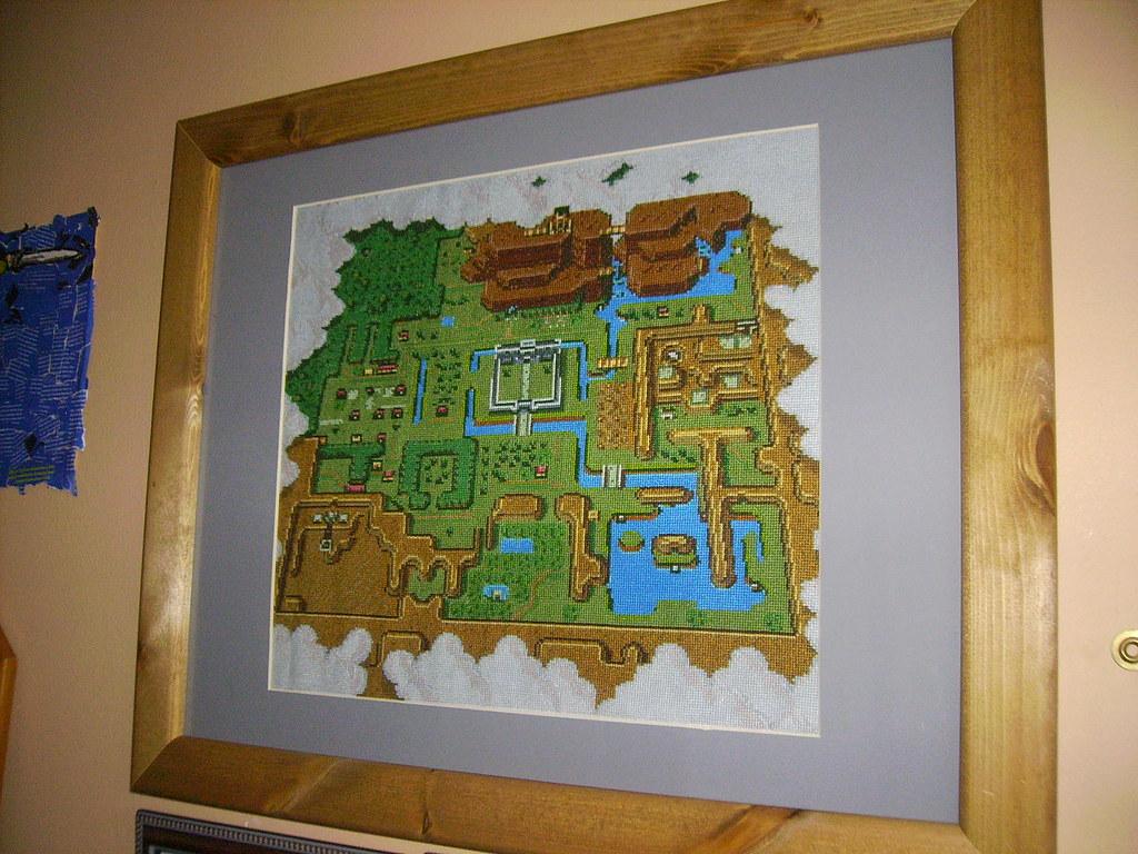 Zelda world map cross stitch the world map from the legend flickr zelda world map cross stitch by servotron gumiabroncs Image collections