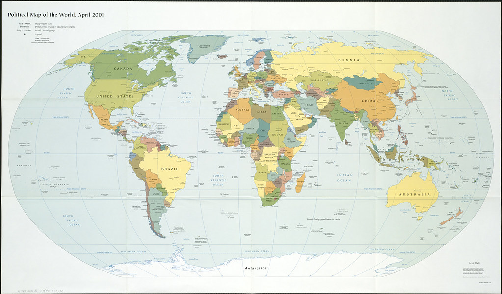 Sea Level Chart United States: Political map of the world April 2001 | Zoom into this map u2026 | Flickr,Chart