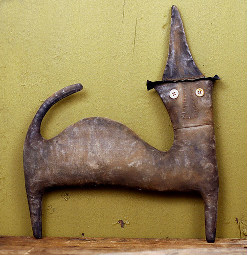 Extreme Primitive Halloween Cat Doll | by oldworldprimitives