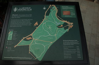 Arnold Arboretum: Map of the grounds at the Arborway Gate | by Chris Devers