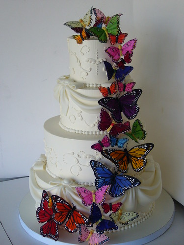 Butterfly Wedding Cake After It Went From A Vision In