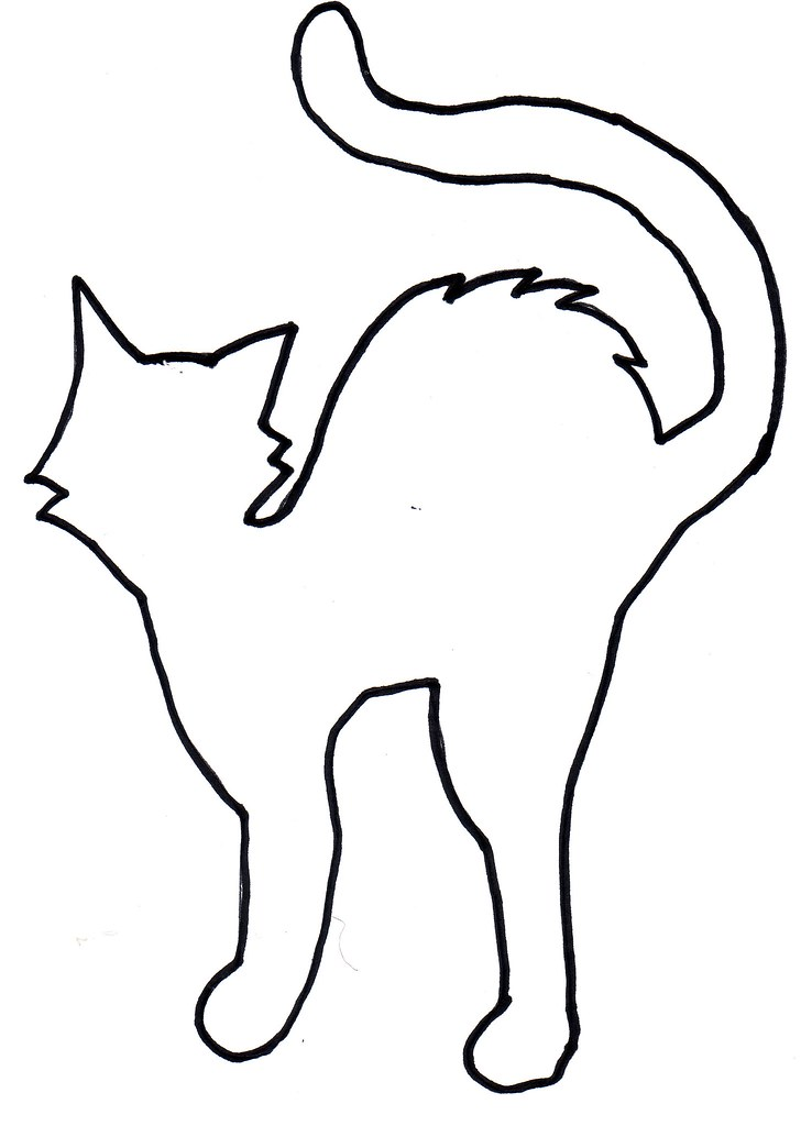 shelterpop-cat-template | Template for black, paper cat cuto… | Flickr