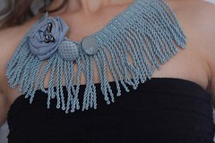 blue fringe necklace | by Katarina Roccella