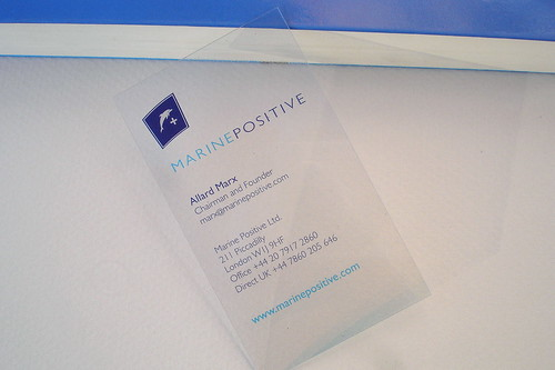 Transparent Business Card | by bce-online.com