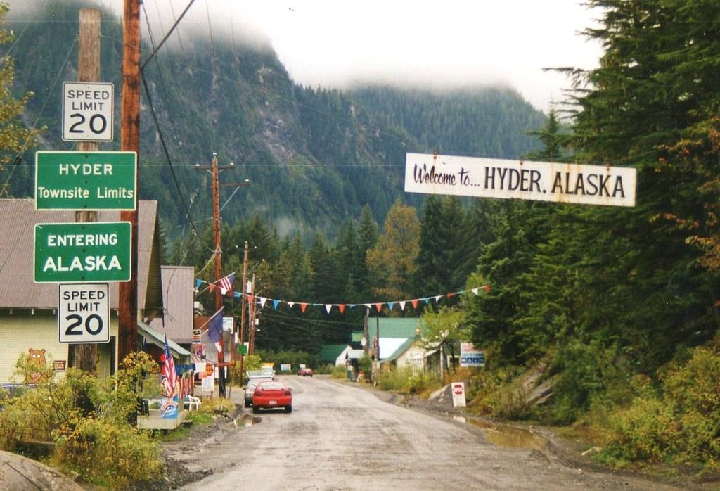 Alaska US from Stewart BC Canada