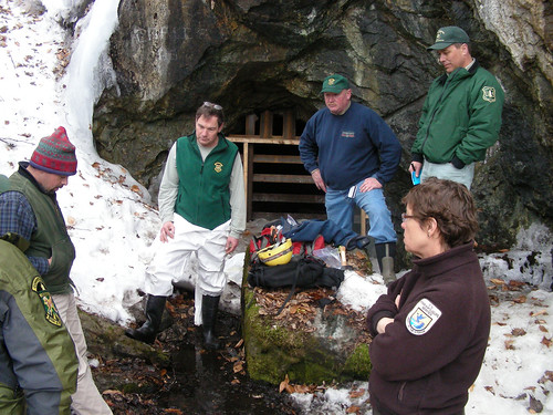 Biologists gather at mine entrance service and state for Vermont fish and wildlife jobs
