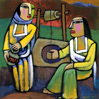 he qi jesus og den samaritanske kvinne bartimeus flickr