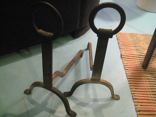 Vintage Wrought Iron Kitchen Chairs