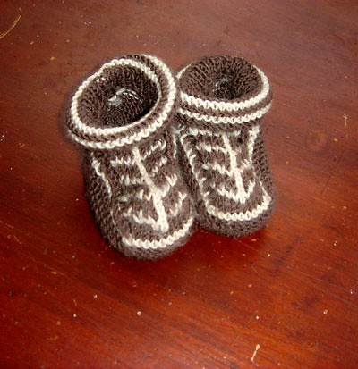 Booties I knitted | by Jules Madden