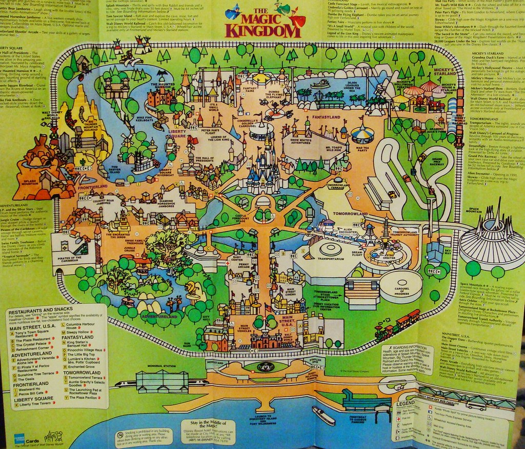 Park Map of the Magic Kingdom 1994 | 1994 - Boy have things … | Flickr