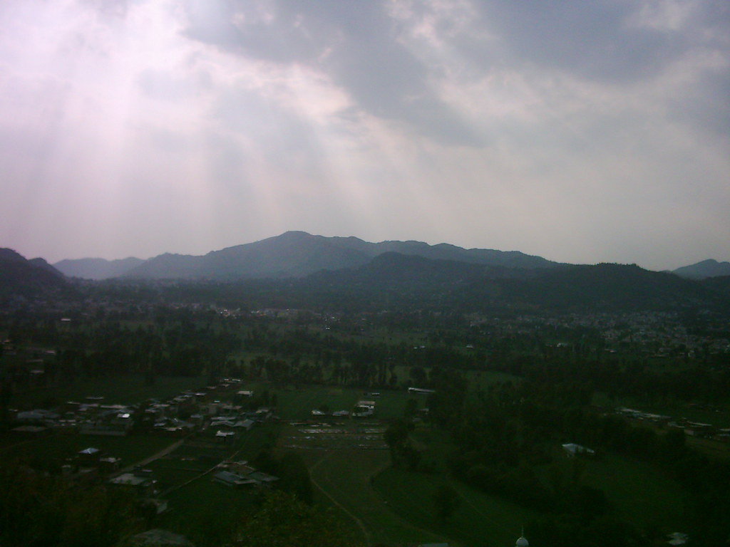 Abbottabad And Shamla Hill At Evening