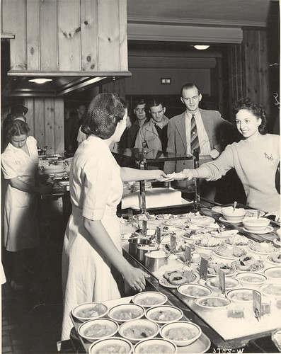 Serving food at the Union Cafeteria, 1941 | by Michigan State University Archives