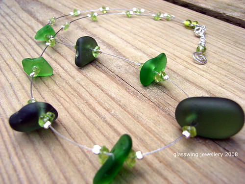 Green sea glass necklace | by Glasswing Jewellery
