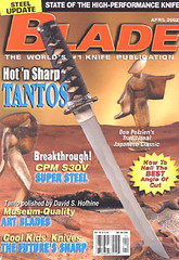 Japanese sword polisher David Hofhine Blade magazine cover | by David Hofhine