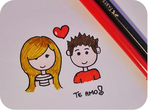 Desenho Que Fiz Pro Namorado, Oin. Comprei