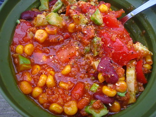 Chili with TVP and Veggies | by Cristen Rene