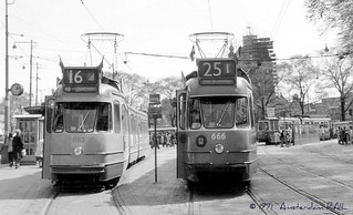 Amsterdam 683: first yellow tram ever (in black & white). | by Amsterdam RAIL