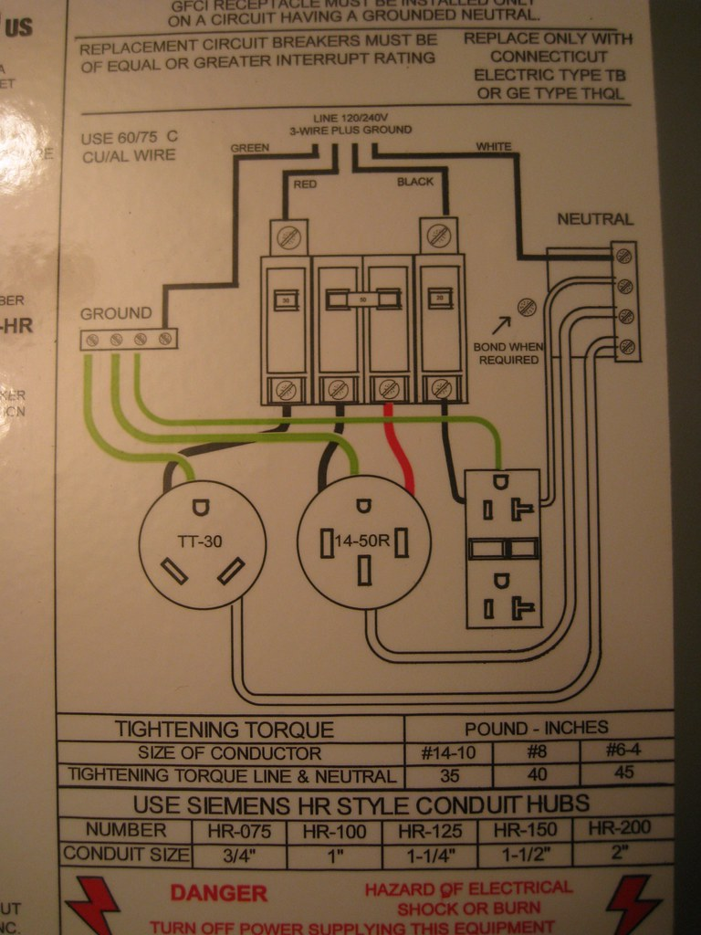 Ev Charging Panel The 14 50 Outlet On This Is St Flickr 3 Wire Gfci Schematic Wiring Diagram By Rosathorns