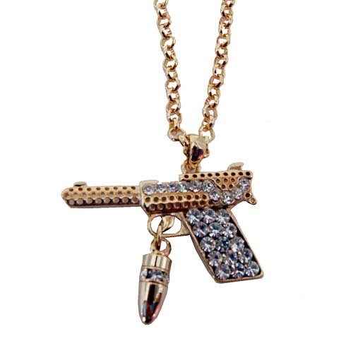 Gold gun bullet necklace sqheads square heads flickr gold gun bullet necklace by sqheads aloadofball Image collections