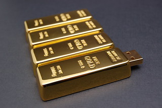 Gold Brick Custom USB Drives | by CustomUSB.com