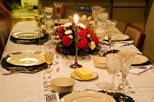 Christmas Placesettings on Dinner Table | by CarbonNYC [in SF!]