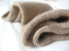 Cashmere wristlets close-up | by coco knits