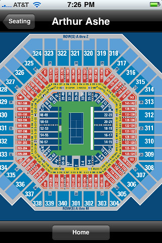 Arthur ashe stadium seating arthur ashe seating map flickr