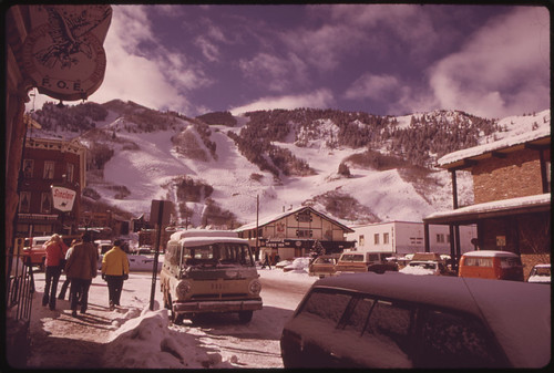 Looking North on Galena Street to the Ajax Mountain Ski Area 02/1974 | by The U.S. National Archives