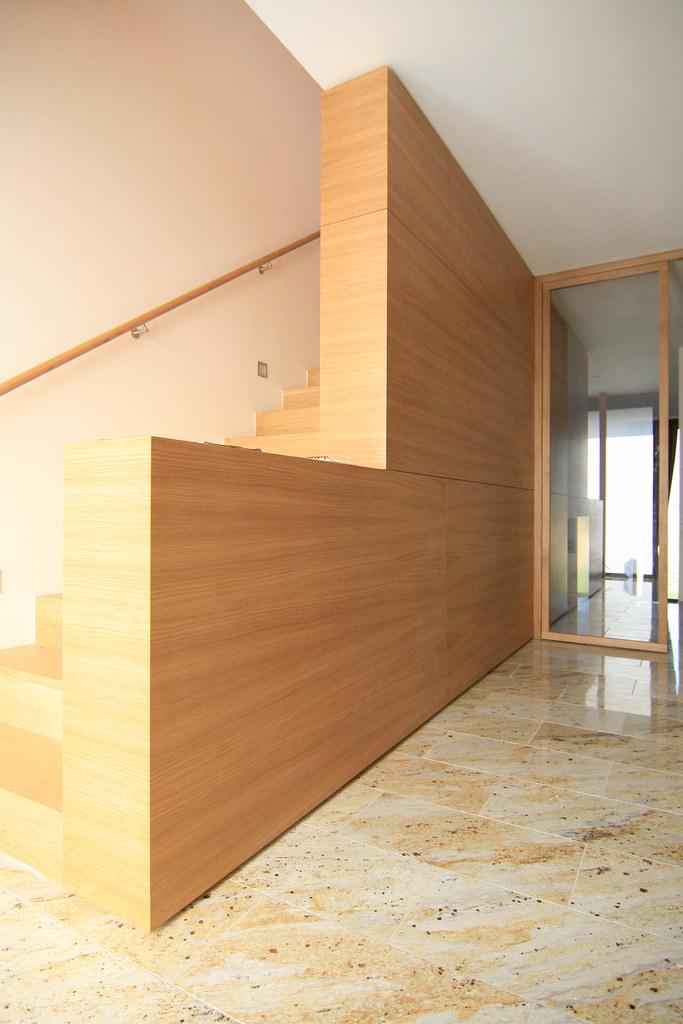 Vertäfelung Neubau Wohnhaus In Frankfurt Am Main Treppe Ww Flickr